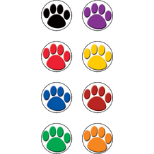 Colorful Paw Prints Mini Stickers