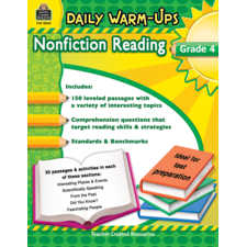 Daily Warm-Ups: Nonfiction Reading Grade 4