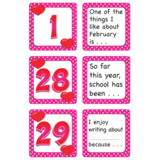 February Polka Dots Calendar Days/Story Starters