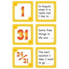 August Polka Dots Calendar Days/Story Starters
