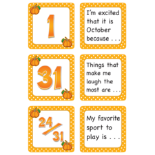October Polka Dots Calendar Days/Story Starters