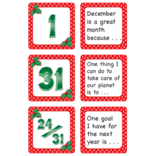 December Polka Dots Calendar Days/Story Starters