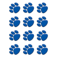 Blue Paw Prints Mini Accents