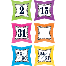 Colorful Zebra Prints Calendar Days