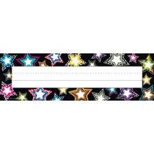 Fancy Stars Flat Name Plates
