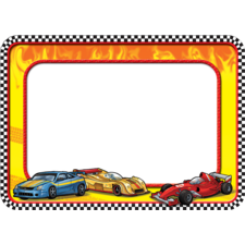 Race Cars Name Tags