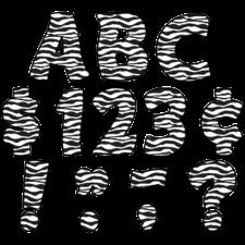 "Zebra Print Funtastic 4"" Letters Uppercase Pack"