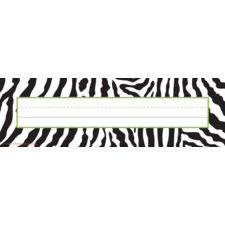 Zebra Name Plates (flat)