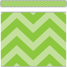 Lime Chevron Straight Border Trim