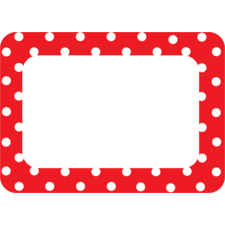 Red Polka Dots 2 Name Tags/Labels