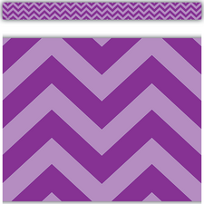 Purple Chevron Straight Border Trim