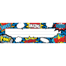 Superhero Flat Name Plates