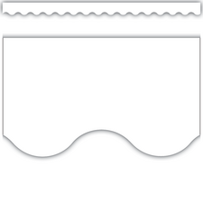 White Scalloped Border Trim