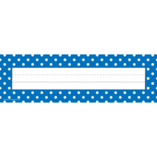 Blue Polka Dots Name Plates (flat)