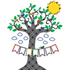 Plaid Tree Bulletin Board