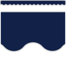 Navy Scalloped Border Trim
