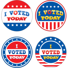 I Voted Today Wear'Em Badges