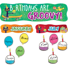 Pete the Cat Birthdays Are Groovy Mini Bulletin Board
