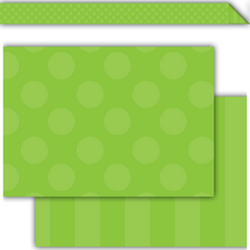 Green Sassy Solids Double-Sided Border