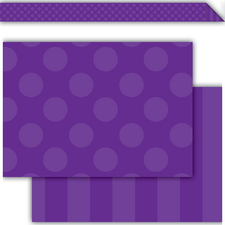 Purple Sassy Solids Double-Sided Border