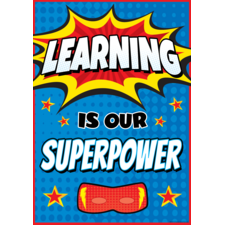 Learning Is Our Superpower Positive Poster
