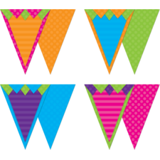 Sassy Solids Pennants