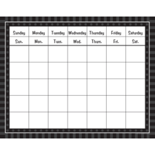 Black Sassy Solids Calendar Grid