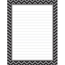 Black Chevron Lined Chart