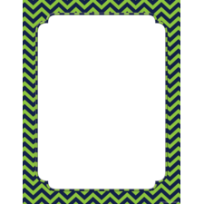 Navy & Lime Chevron Blank Chart