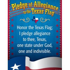 Pledge of Allegiance to the Texas Flag Chart