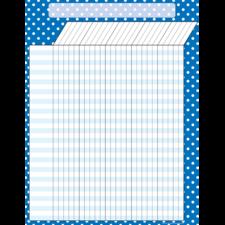 Blue Polka Dots Incentive Chart