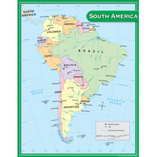 South America Map Chart
