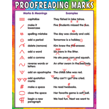 Proofreading Marks Chart