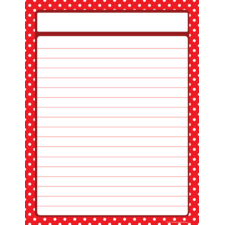 Red Polka Dots Lined Chart