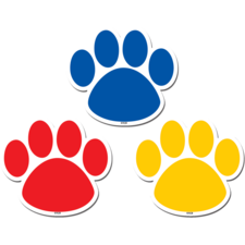 Colorful Paw Prints Magnetic Accents