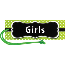 Lime Polka Dots Magnetic Girls Pass