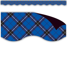 Blue Plaid Magnetic Borders