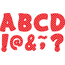 "Red Polka Dots Funtastic Font 3"" Magnetic Letters"
