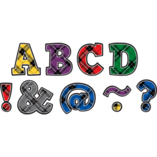"Plaid Bold Block 2"" Magnetic Letters"