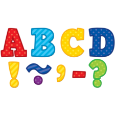 "Playful Patterns Bold Block 3"" Magnetic Letters"