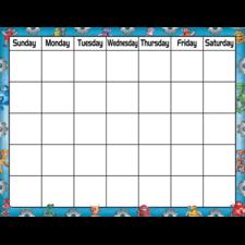 Robots Calendar Chart