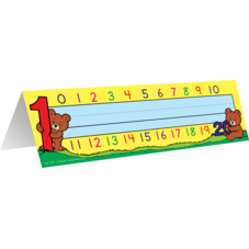 Alphabet/Numbers Tented Name Plates