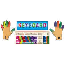 Keyboards Bulletin Board Display Set