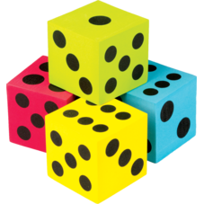 Colorful Jumbo Dice 4-Pack