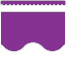 Purple Scalloped Border Trim