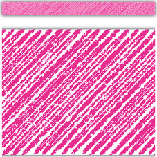 Hot Pink Scribble Straight Border Trim