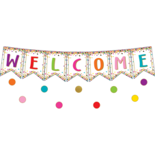 Confetti Pennants Welcome Bulletin Board Display