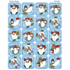 Snowmen Stickers from Susan Winget