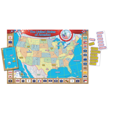 US Map (Repositionable) Bulletin Board Display Set
