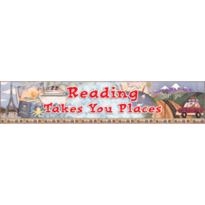 Reading Takes You Places Banner from Debbie Mumm